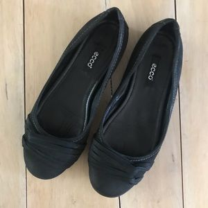 Ecco Leather Ballet Flats